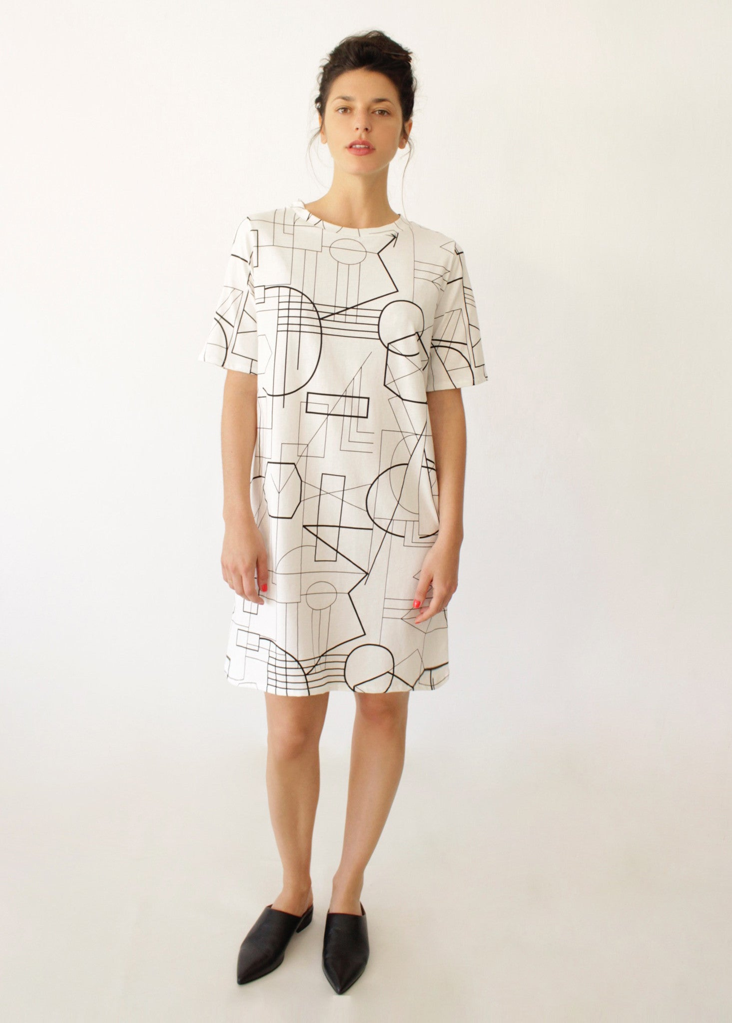 White Geometric Tunic
