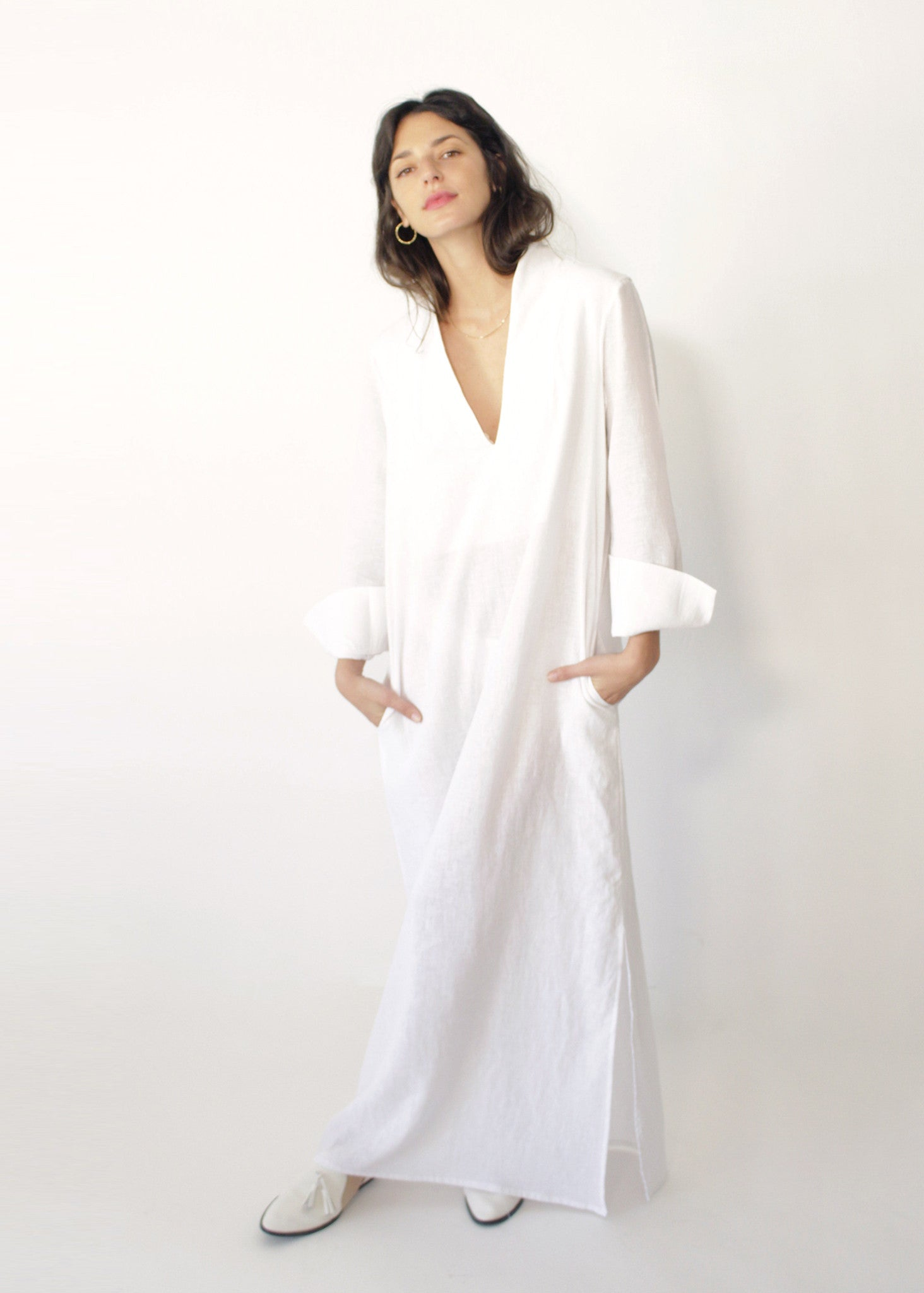 Sofia White Linen Dress