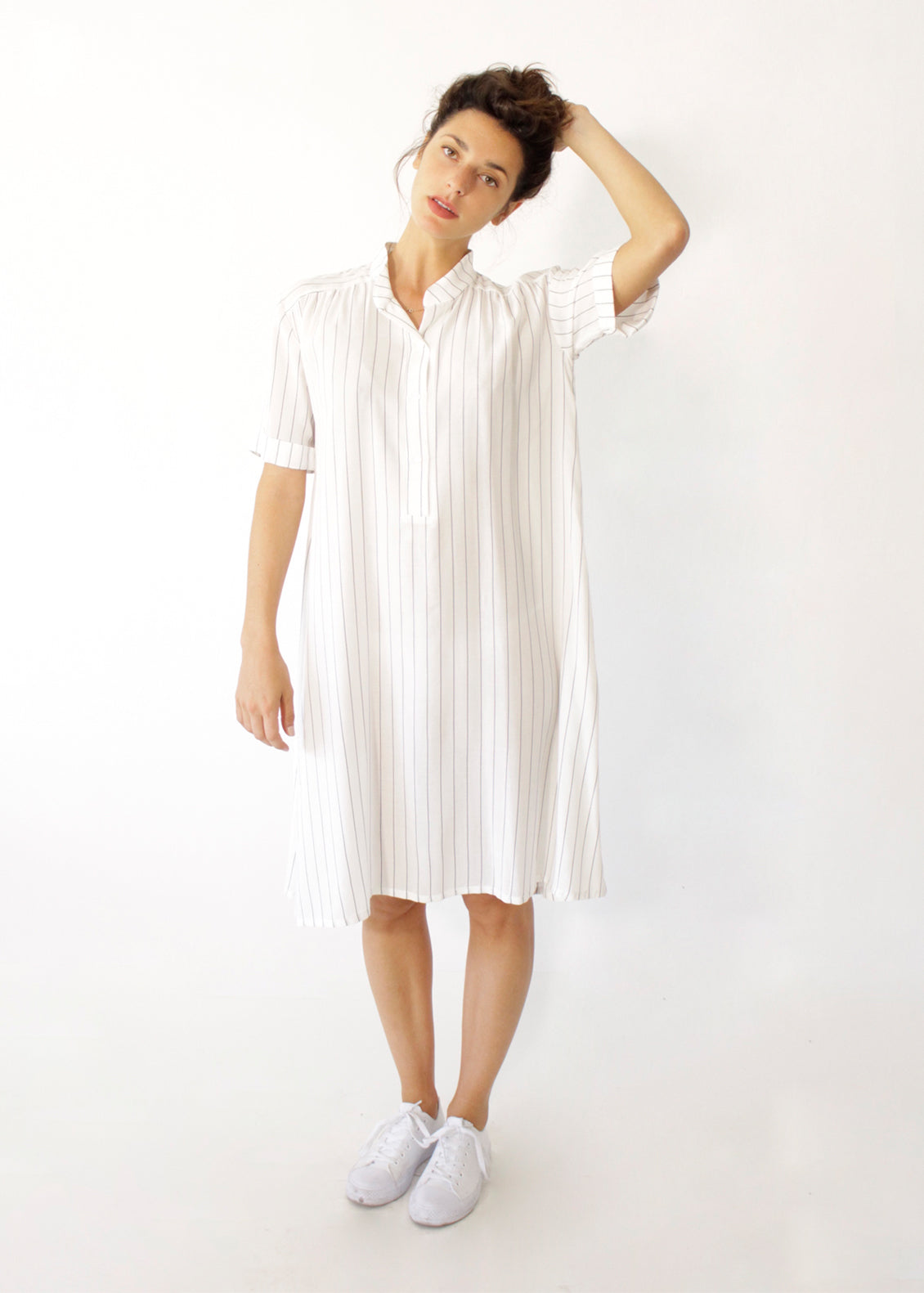 91076a571fd9 Short White Striped Dress