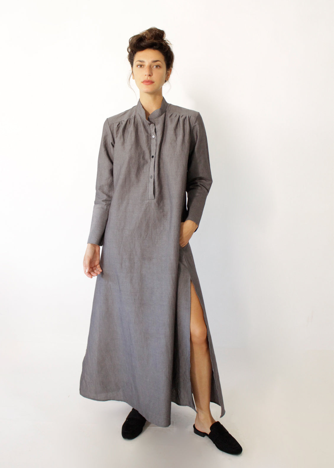 Caftan Autumn Gray dress