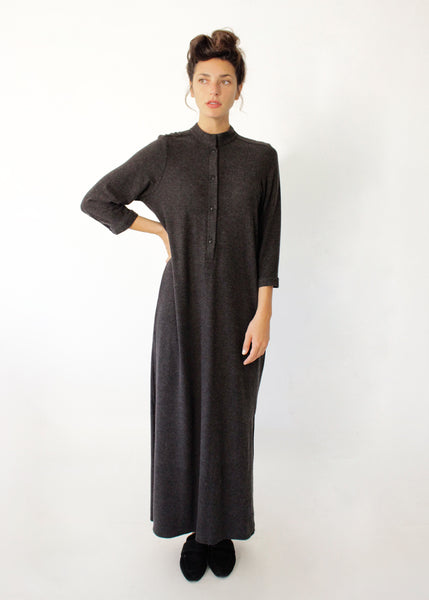 Maxi Gray Wool Caftan dress