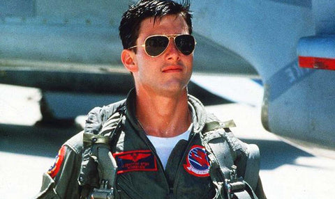 Tom Cruise en Top Gun con unas Ray-Ban