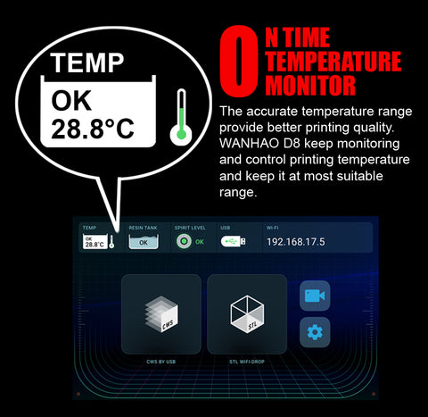D8 on time temperature sensor