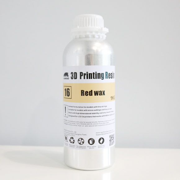 3D Printing Resin Red Wax, 250ml/500ml/1000ml/bottle