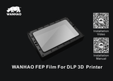 D7/D7 Plus FEP Film Replacement Sheets Size 0.2*130*185mm