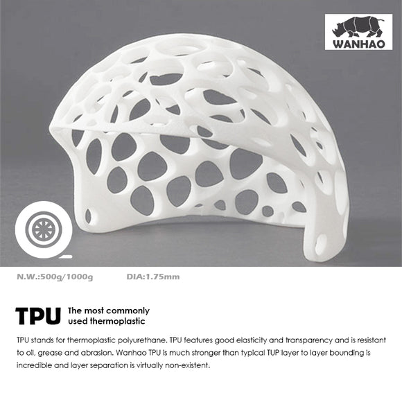 TPU FILAMENT 1.75MM Elastic, Wearable