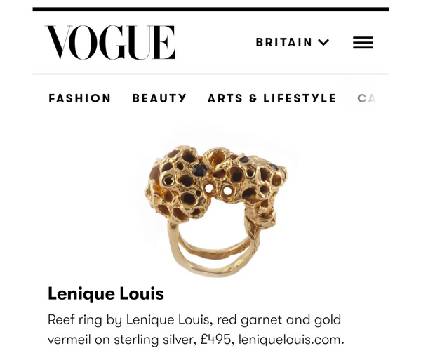 Bestselling Reef ring featured in Vogue
