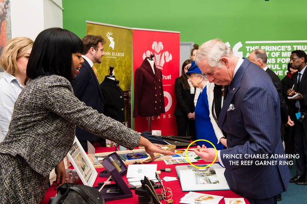 Lenique Louis meets HM THE QUEEN AND HRH THE PRINCE OF WALES