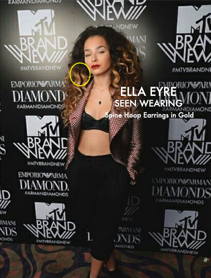 Ella Eyre wears Lenique Louis jewellery presenting MTV Awards