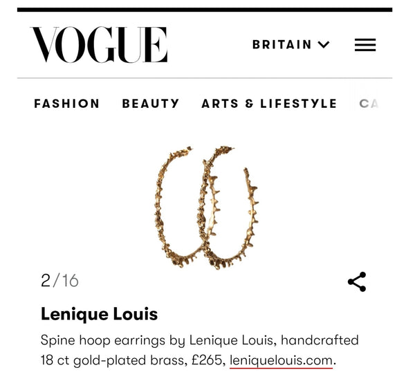 VOGUE Earrings List Featuring Spine Hoops
