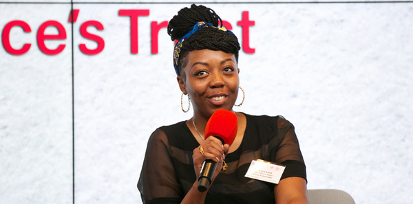 Lenique Louis speaks at 'Women Supporting Women' event at Google