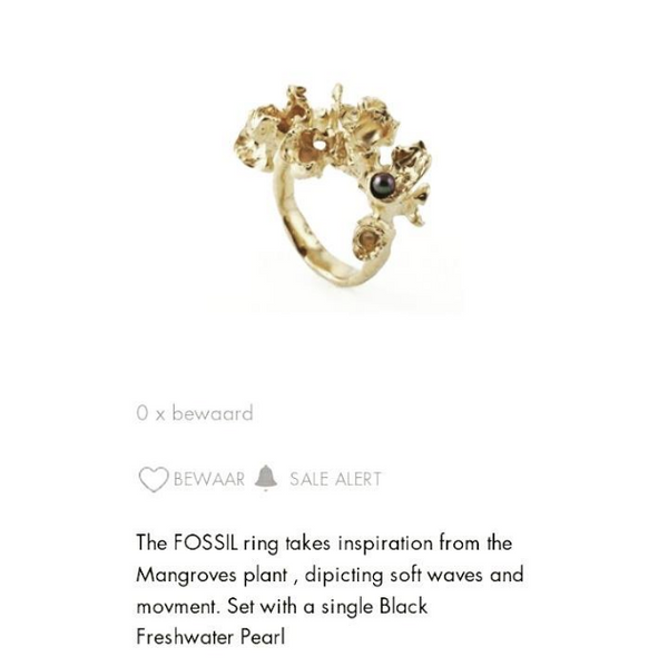 Blossom ring 'Go to Accessory' in  Fashion Click website