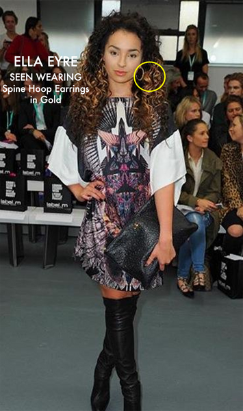 Ella Eyre wears Lenique Louis to LFW