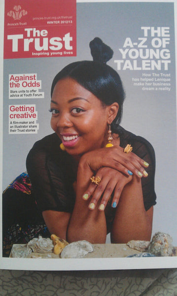 Lenique Louis cover star on The Prince's Trust Magazine