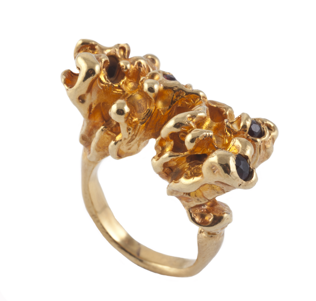 Lava Gold Ring - Leniquelouis-jewellery-london-based-designer-handmade-in-england-uk