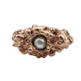 Single Pearl Spine Rose Ring - Leniquelouis-jewellery-london-based-designer-handmade-in-england-uk