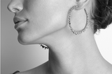 Silver Spine Hoop Earrings - Leniquelouis-jewellery-london-based-designer-handmade-in-england-uk