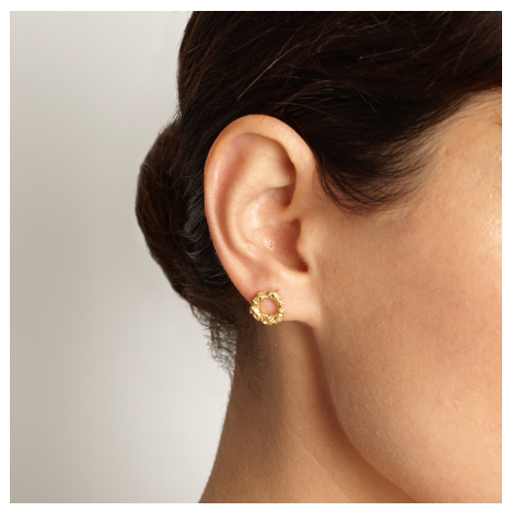 Round Reef Gold Stud Earrings - Leniquelouis-jewellery-london-based-designer-handmade-in-england-uk