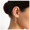 Spine Drop Gold Earrings - Leniquelouis-jewellery-london-based-designer-handmade-in-england-uk