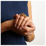 Holes Gold Ring - Leniquelouis-jewellery-london-based-designer-handmade-in-england-uk