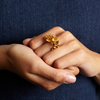Blossom Gold Pearl Ring - Leniquelouis-jewellery-london-based-designer-handmade-in-england-uk
