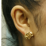 Large Gold Spine earrings - Leniquelouis-jewellery-london-based-designer-handmade-in-england-uk