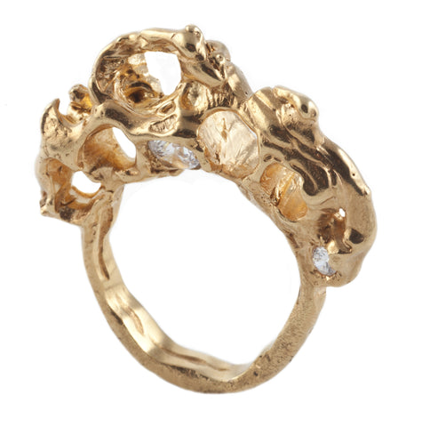 Lava Gold Ring