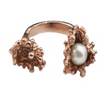 Rose Gold Spine Pearl Ring - Leniquelouis-jewellery-london-based-designer-handmade-in-england-uk