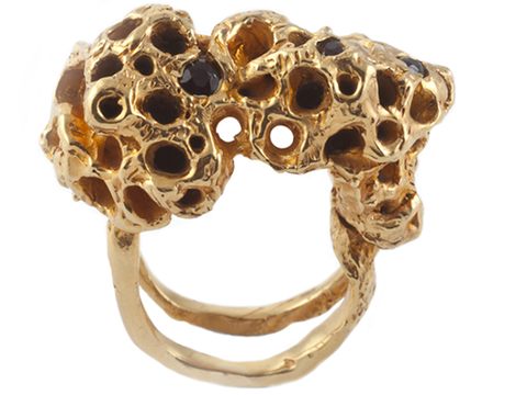 Holes Gold Ring