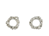 Round Reef Silver Stud Earrings - Lenique Louis
