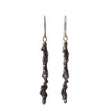Spine Drop Oxidised Silver Earrings - Leniquelouis-jewellery-london-based-designer-handmade-in-england-uk