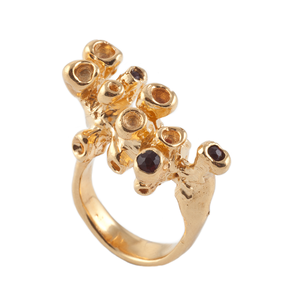 Tubes Gold Ring - Leniquelouis-jewellery-london-based-designer-handmade-in-england-uk