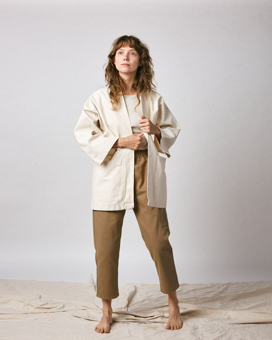 Haori Coat - Organic Cotton -Natural