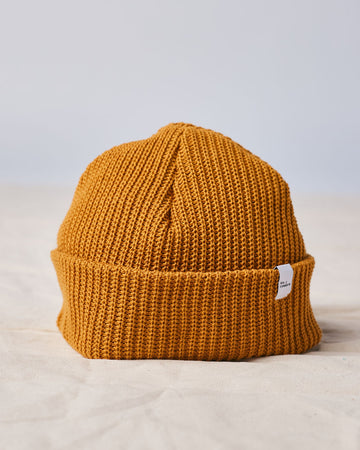 Cotton Knit Beanie - Yellow