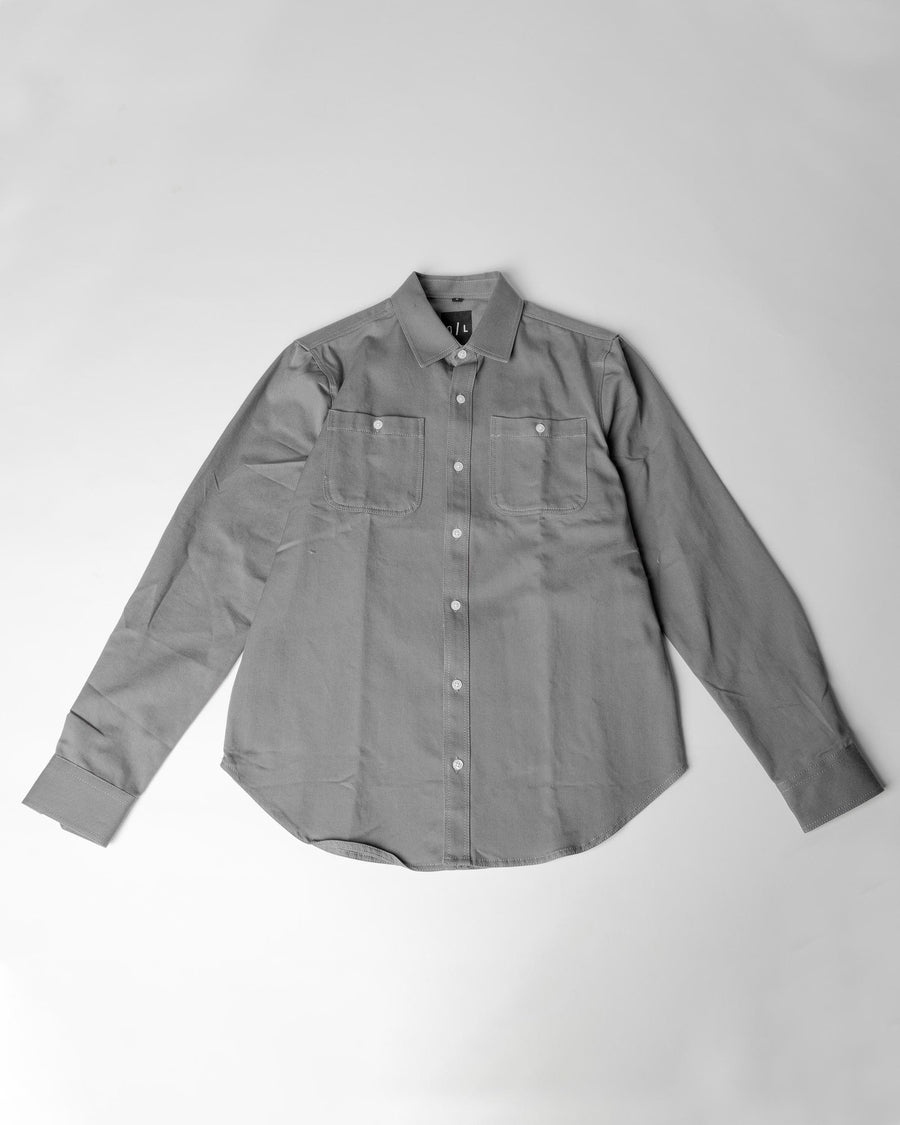 Grey cotton button up (discontinued style)