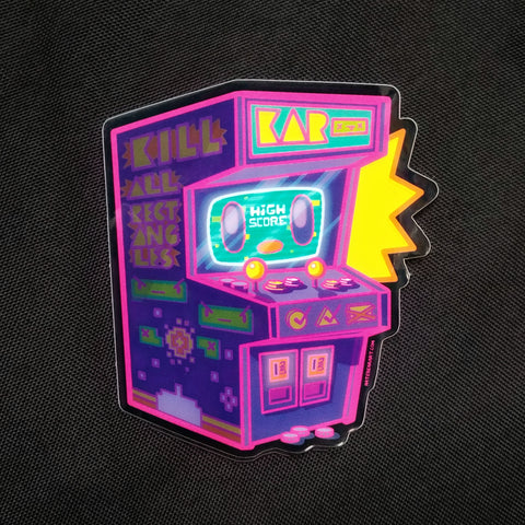 Arcade Buddy Sticker (tron Variant)