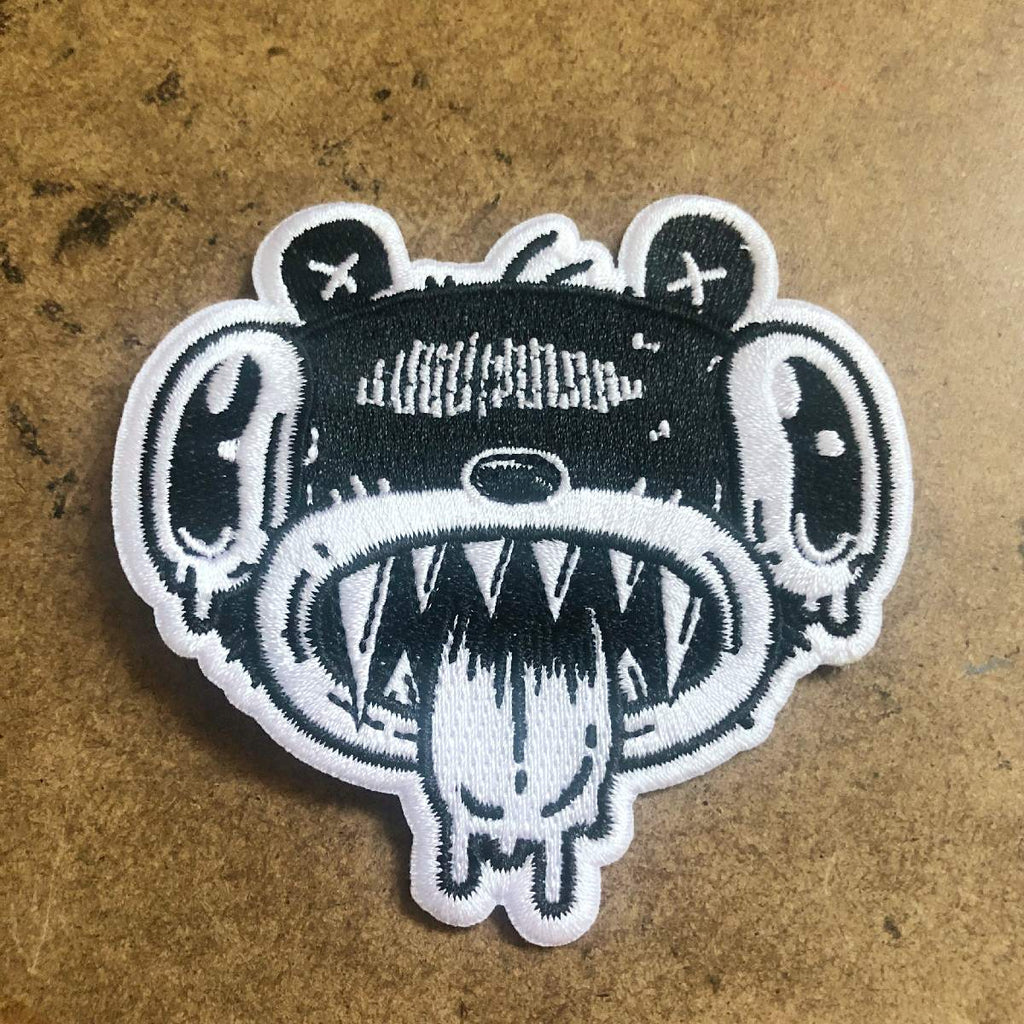 Drooly Bear Face Embroideted Patch