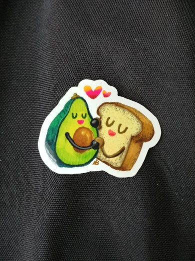 Avocado ♥ Toast Sticker