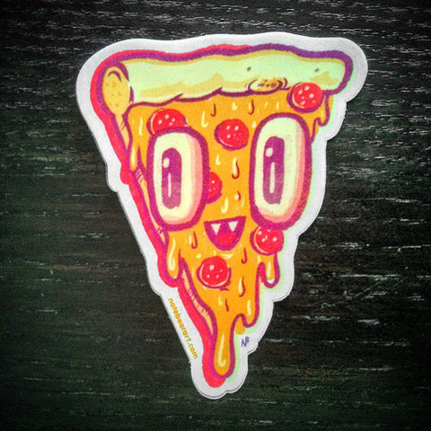 Pizza Face Sticker