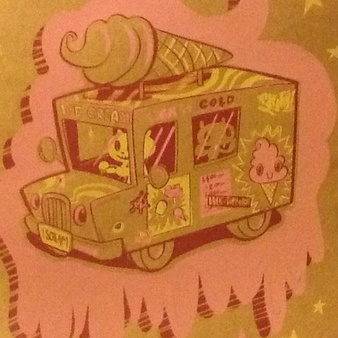 I Scream Truck Print: SALE (-$5)