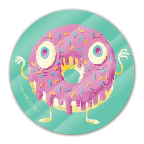 Zombie Donut Circle Sticker