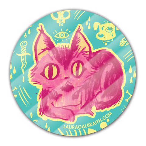 Cat Circle Sticker