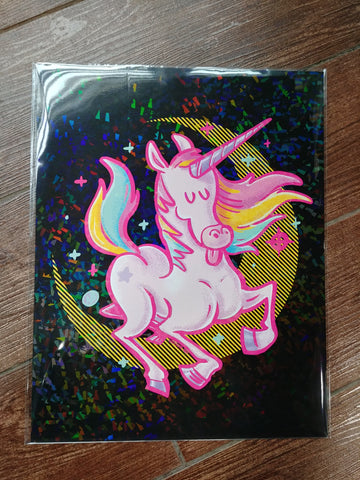 Unicorn Holographic Print