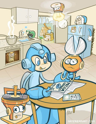 Mega Man Kitchen of Spoils Print