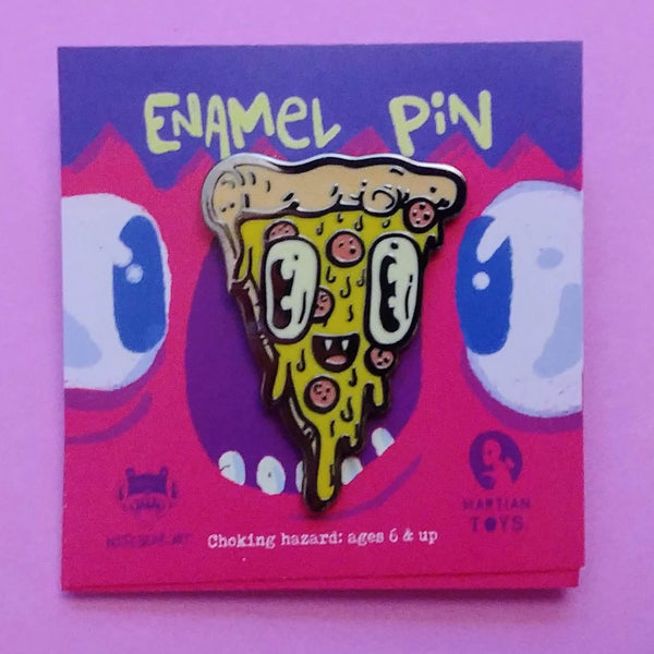 Pizza Face Pin