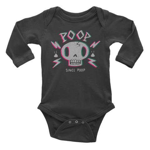 Poop SInce Poop Skull – Infant long sleeve one-piece