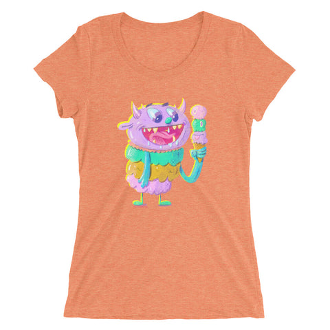Ice Cream Monster - Ladies' short sleeve t-shirt