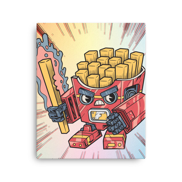Fry-nator Fast Food Mech - Canvas Print
