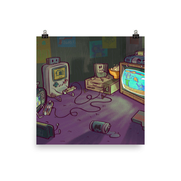 Gamers Gonna Game — Retro Gaming Poster