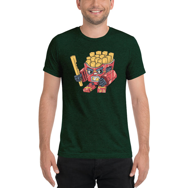 Fry-bot Fast Food Mecha 🍟 - Short sleeve t-shirt